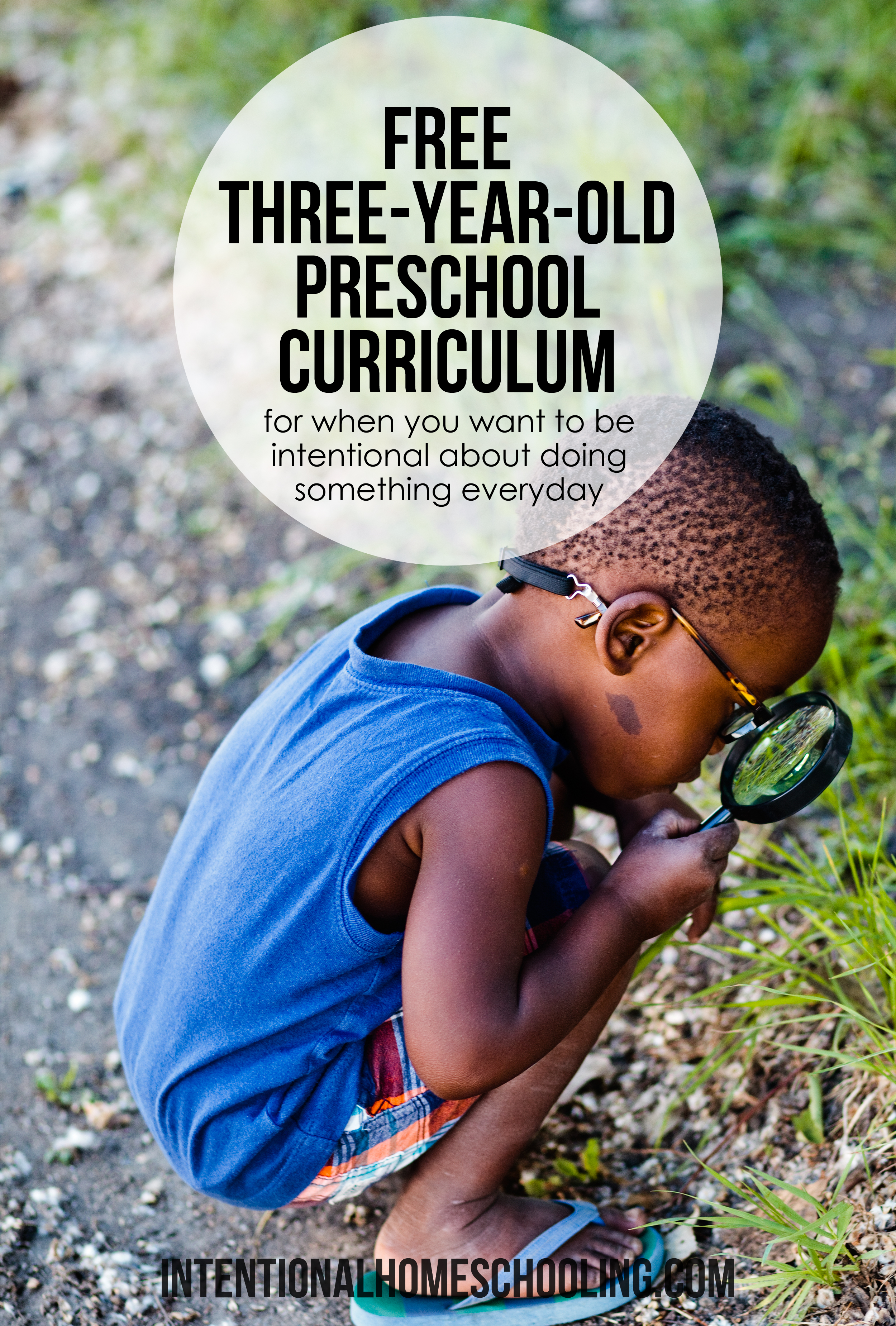 Free 3-Year-Old Preschool Curriculum - perfect for intentional preschool when you want something small to do each day.