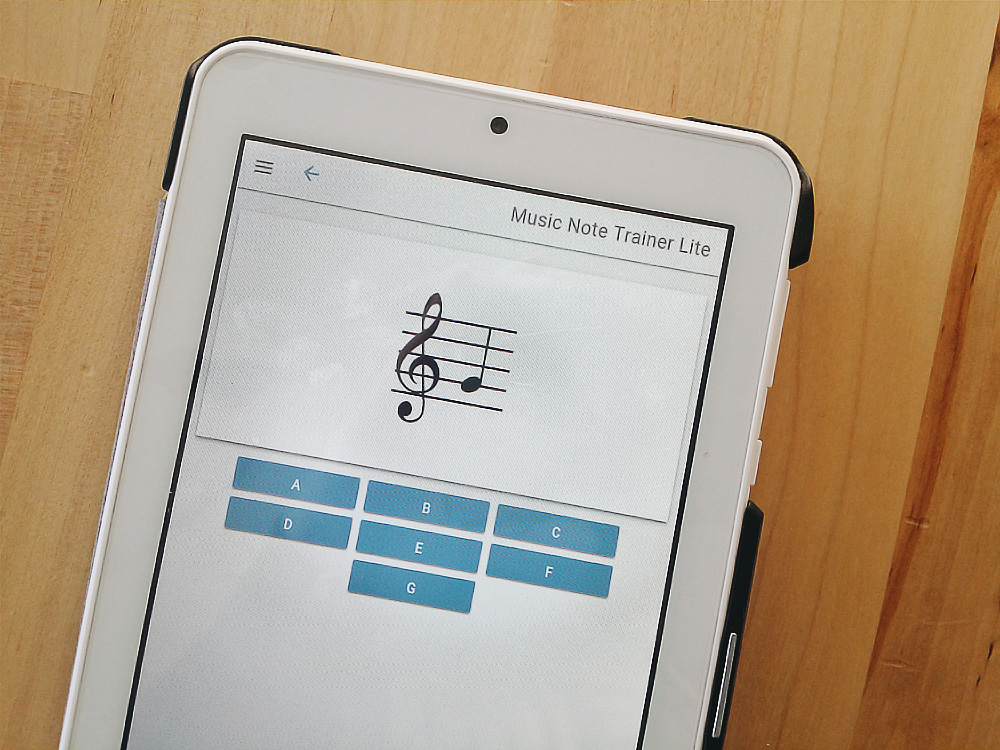 A great flashcard app for practicing your notes.