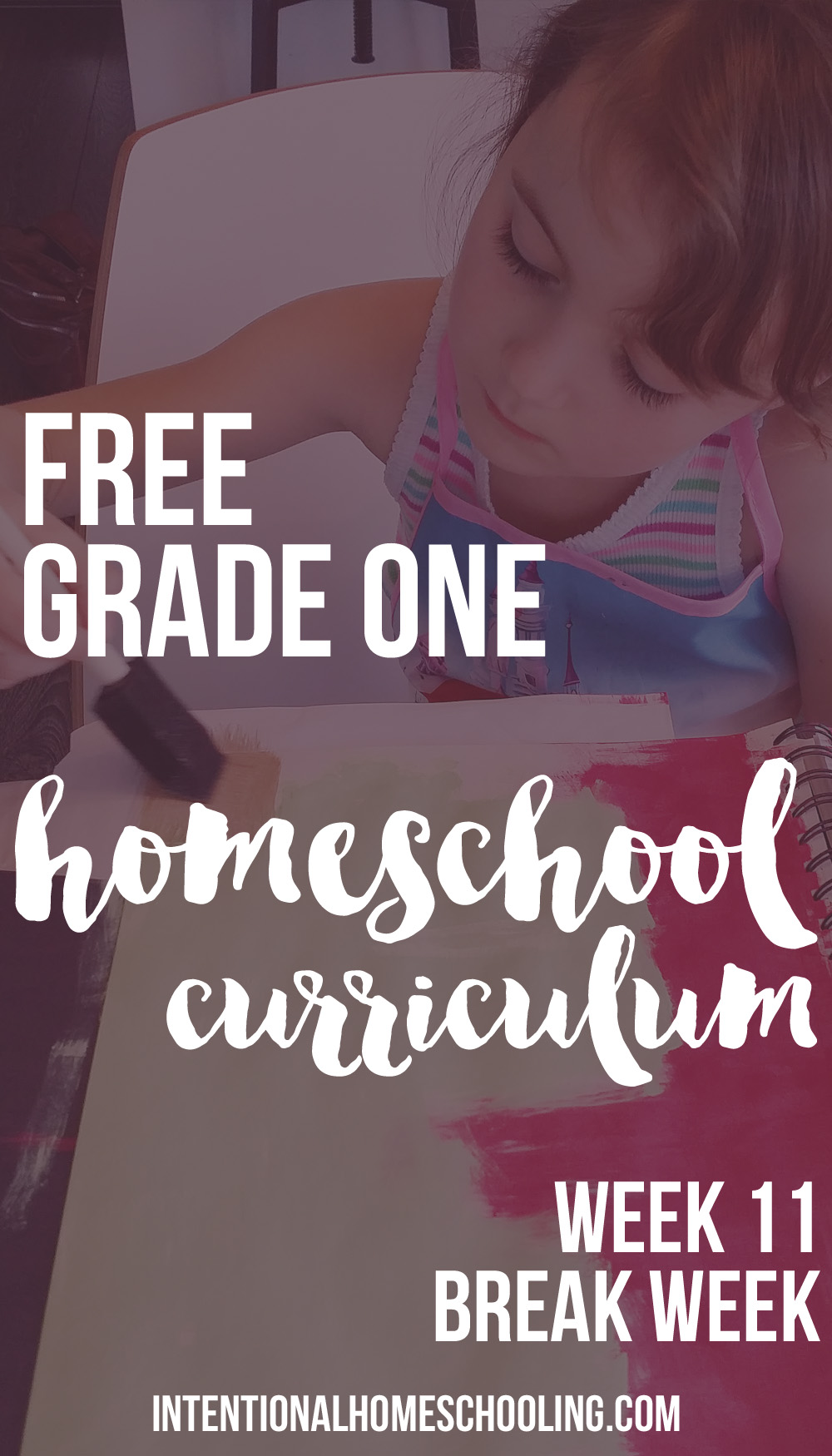 Free Grade One Homeschool Curriculum - week 11 - break week!
