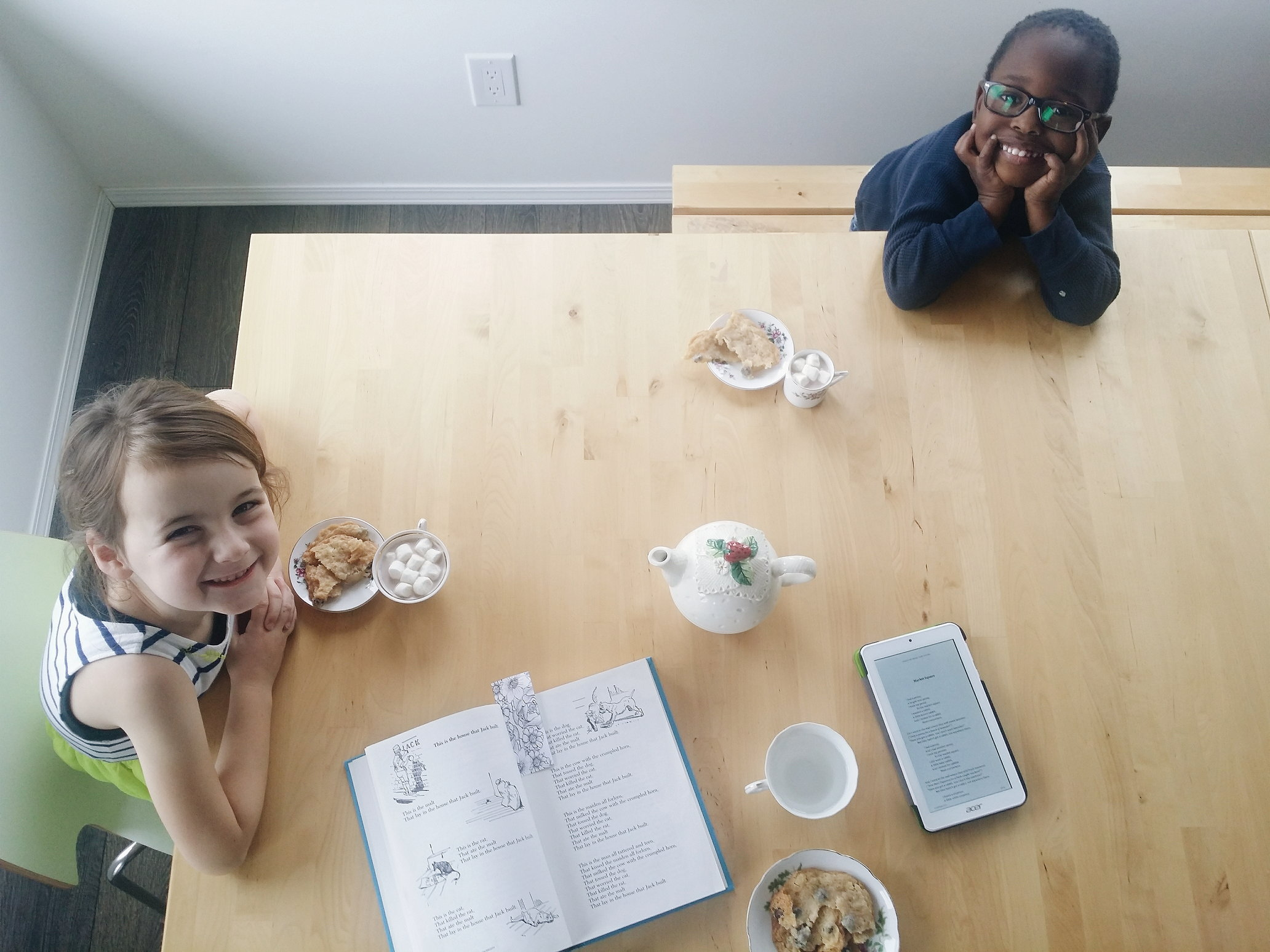 Poetry Tea Time in our homeschool