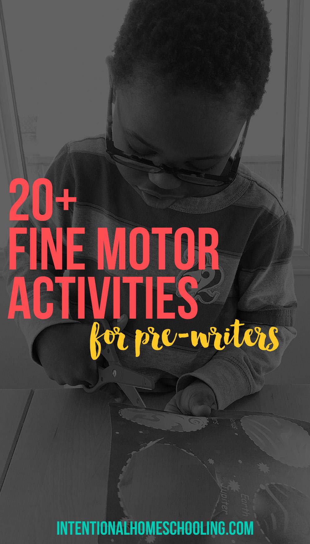 Activities for Fine Motor Development for Preschoolers and Pre-Writers