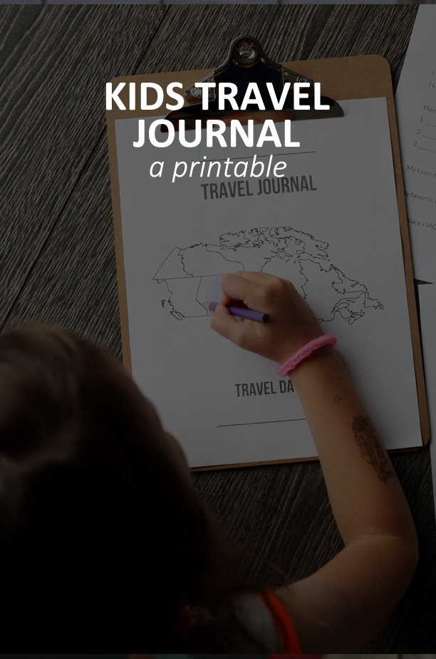 A Printable Kids Travel Journal