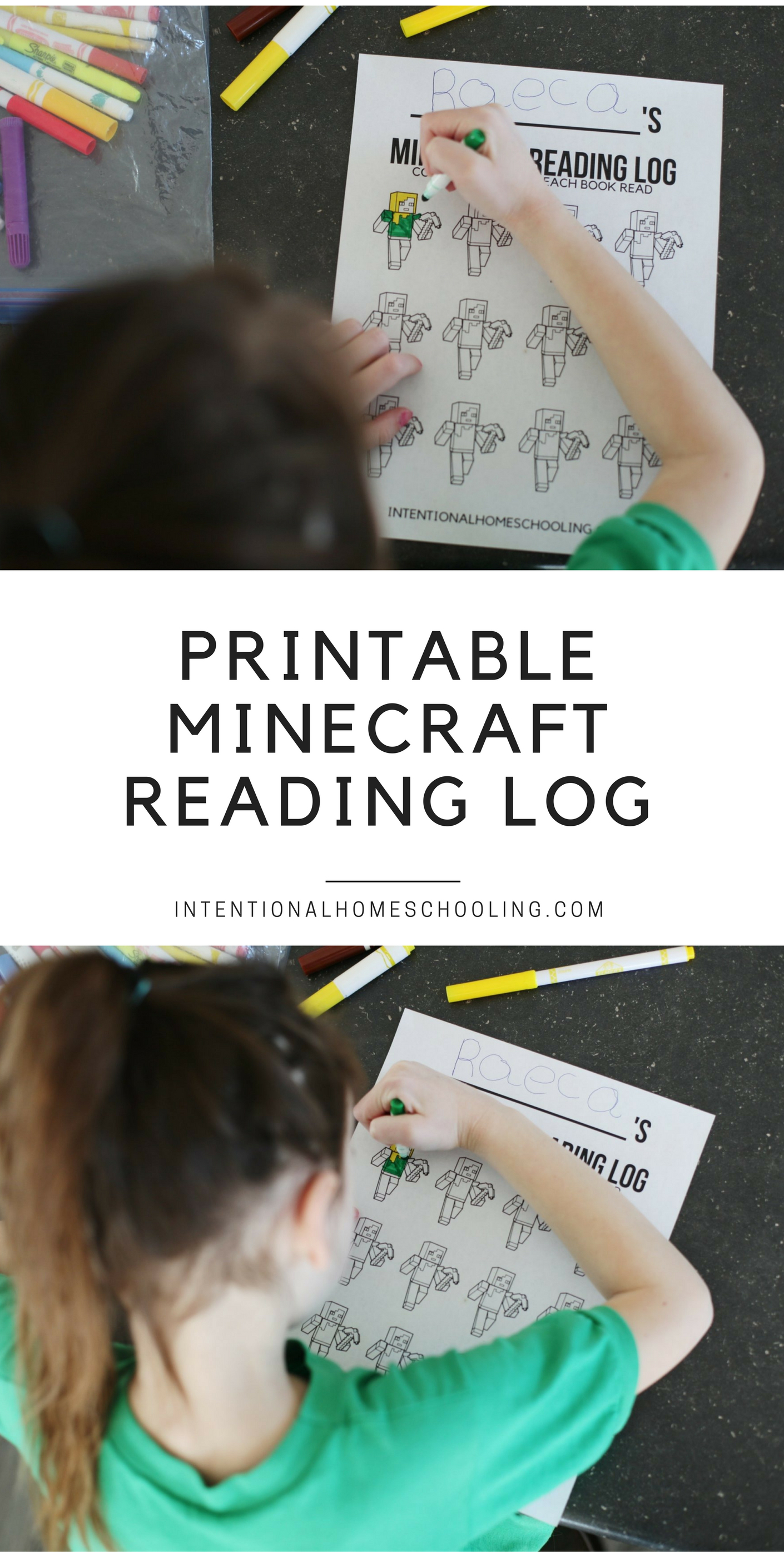 Free Minecraft Printable Reading Log