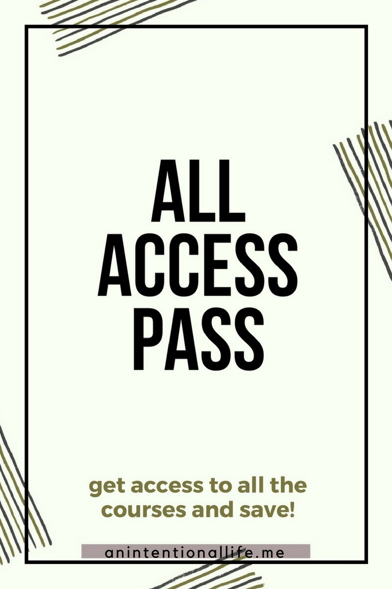 All Access Pass - access to courses about homeschooling, intentional living and photography