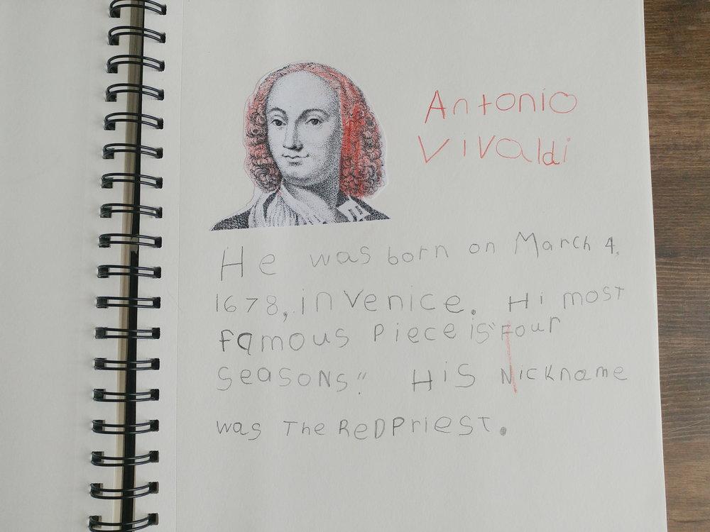 Antonio Vivaldi Composer Study
