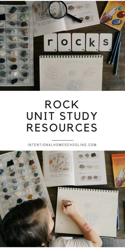 Rocks Mini Unit Study Resources Homeschool