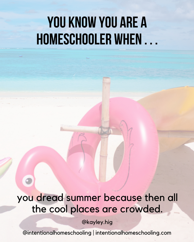 You Know You Are A Homeschooler When . . .
