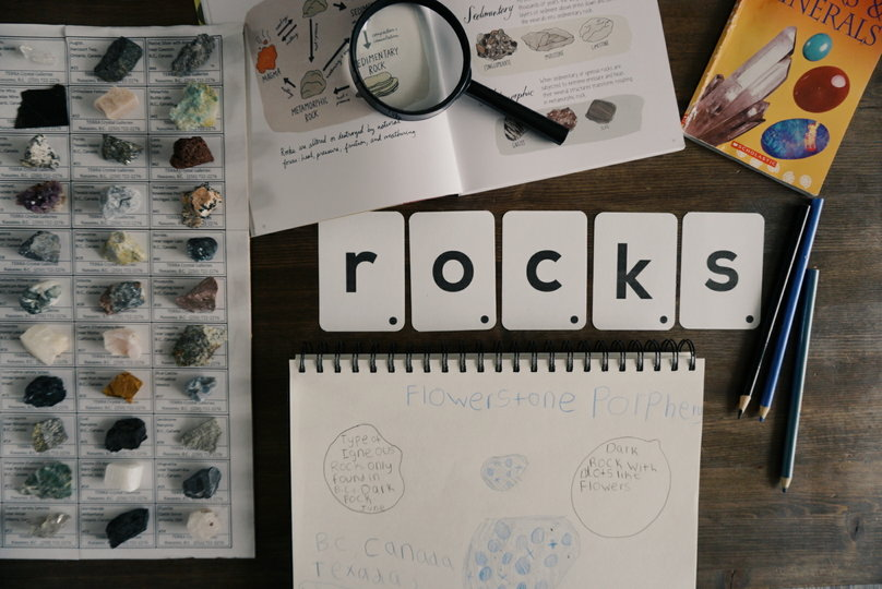 Rocks Relaxed Notebooking Page and Resources for Rock Unit Study
