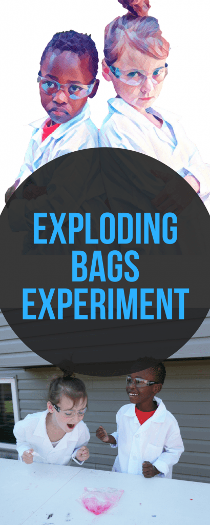 Exploding bags experiment - an easy STEM experiment to do with kids with very few supplies!