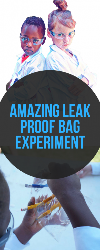 Here's a fun and simple experiment for kids! A leak proof bag with pencils stuck in it?!