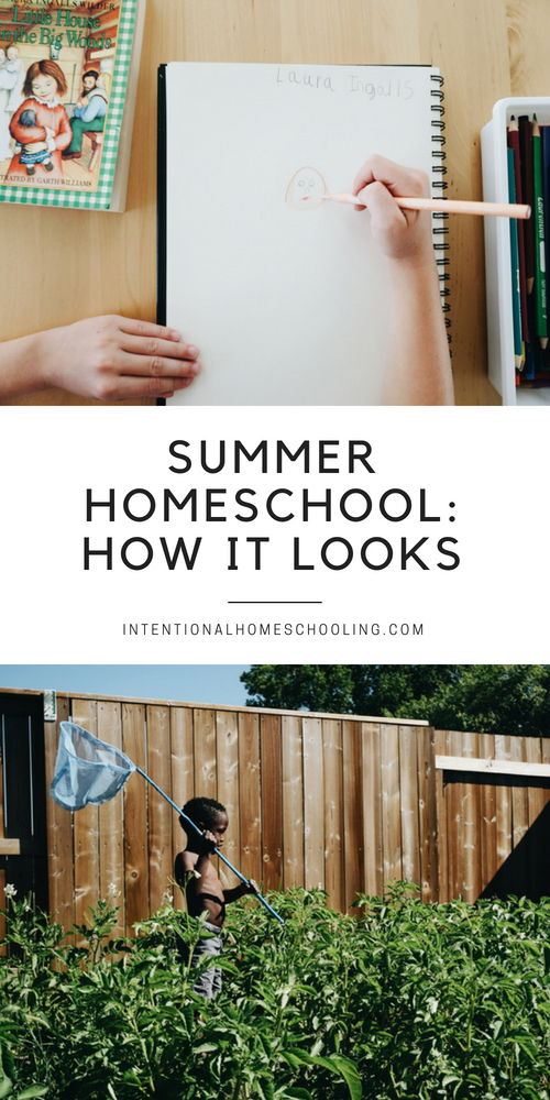 A look inside summer homeschooling