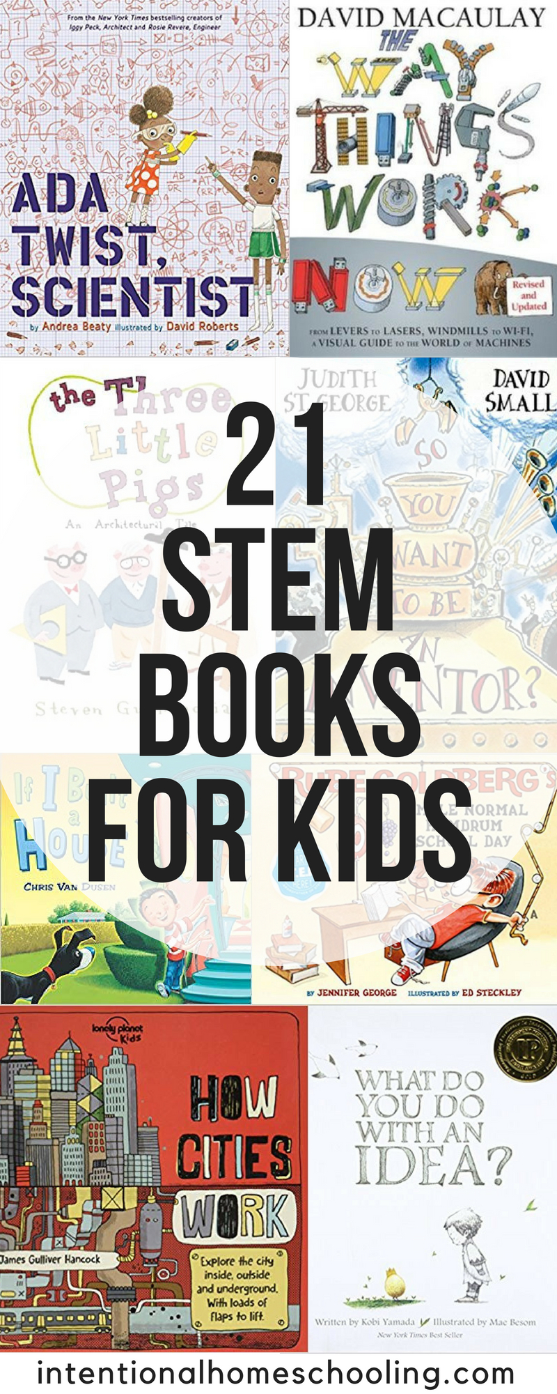 The best STEM books for kids, including picture books and non-fiction STEM books. A great way to get kids excited about Science, Technology, Engineering and Math!