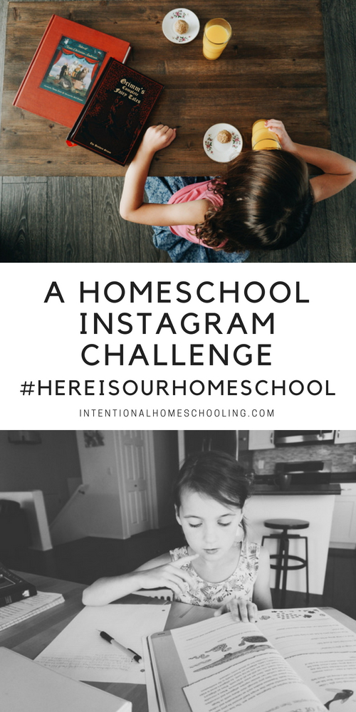 A fun, month long, Homeschool Instagram Prompt Challenge!