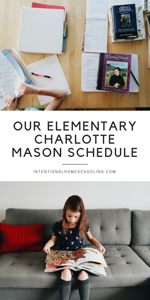 Charlotte Mason homeschool DIY curriculum for elementary - year 0 and year 3