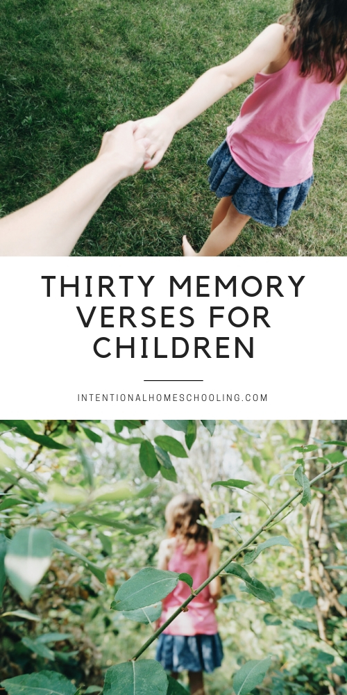 30 Memory Verses and Passages for Children