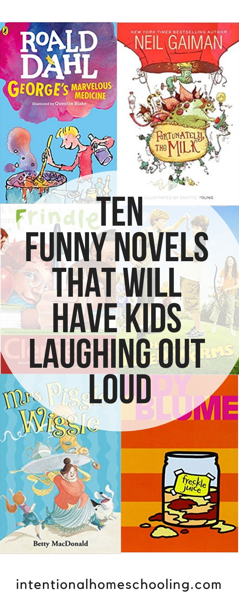 Ten funny chapter books that will have kids laughing out loud. Great novels kids will love, especially the boys.