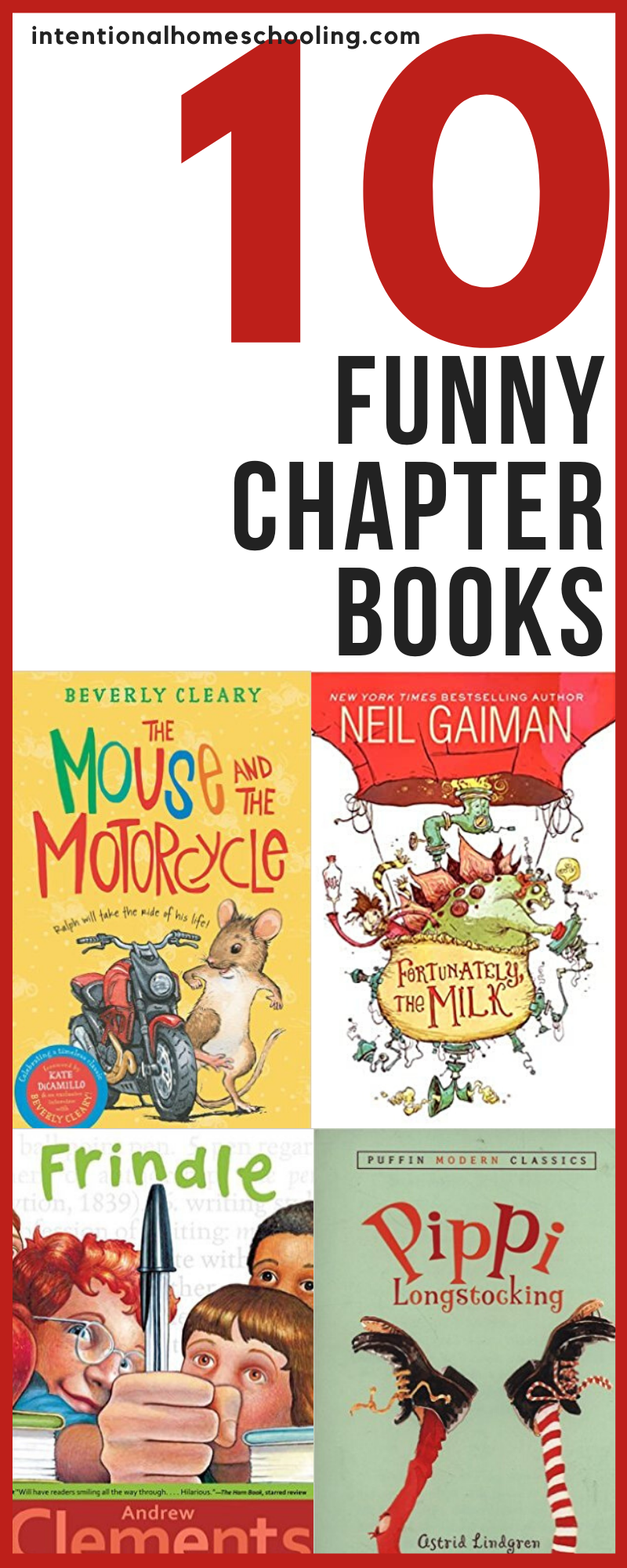 Ten funny novels that will have kids laughing out loud. Great read aloud chapter books kids will love, especially the boys.