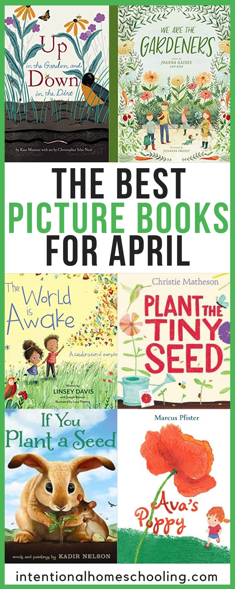 The Best Picture Books for April - great picture books that include all things gardening and flowers that kids will enjoy