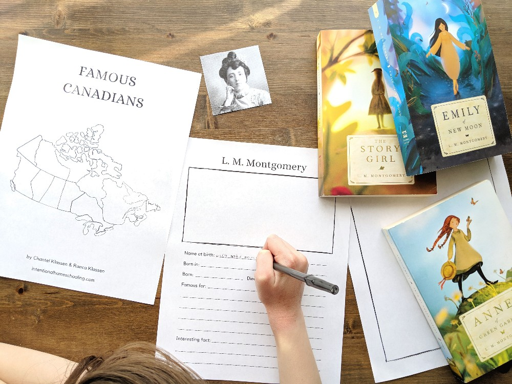 Famous Canadians Free Notebooking Pages - great for learning Canadian history