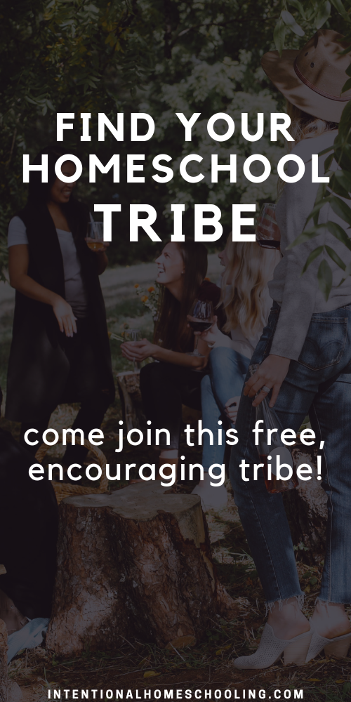 Find Your Homeschool Tribe - a free online (off of social media!) encouraging and inspiring homeschool tribe