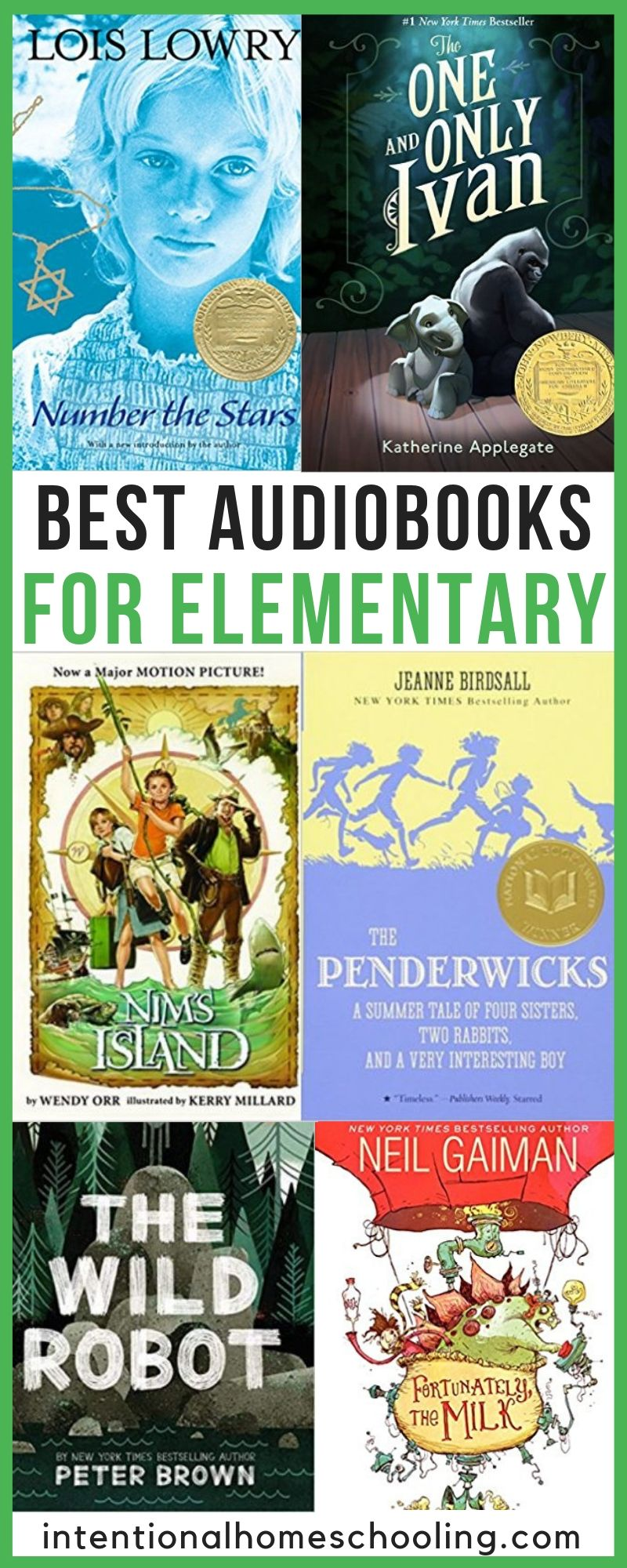 The Best Audiobooks for Elementary - grade books to listen to with grades 1, 2, 3 and 4!