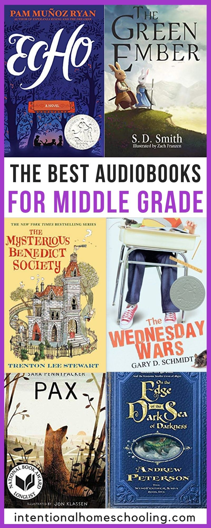 The Best Audiobooks for Middle Grades - best for grades 5, 6, 7 and 8!
