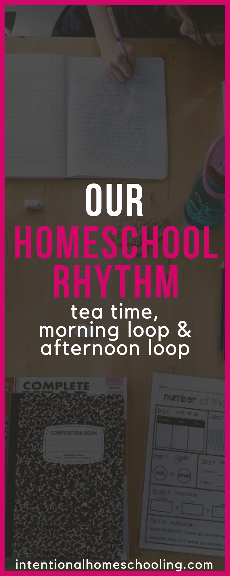 Our Three-Part Homeschool Rhythm - tea time, morning loop and afternoon loop