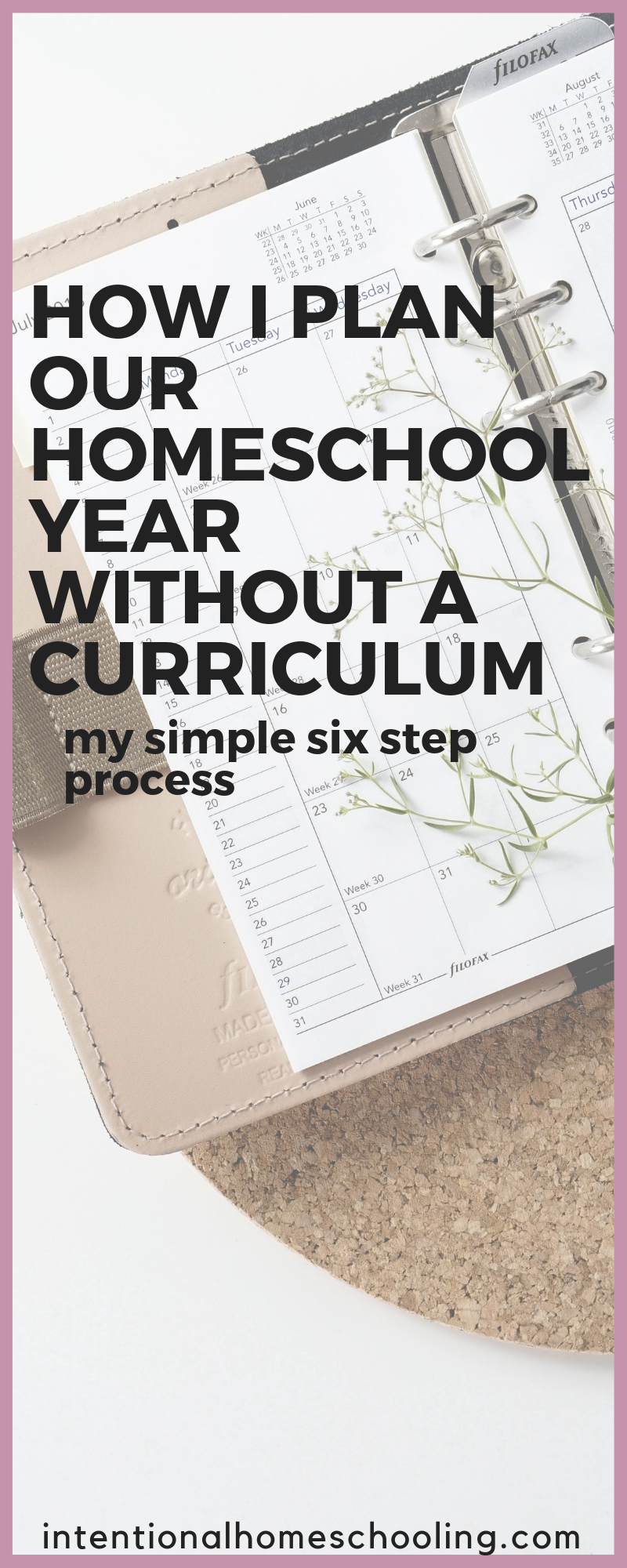 How I Plan Our Homeschool Year Without a Curriculum