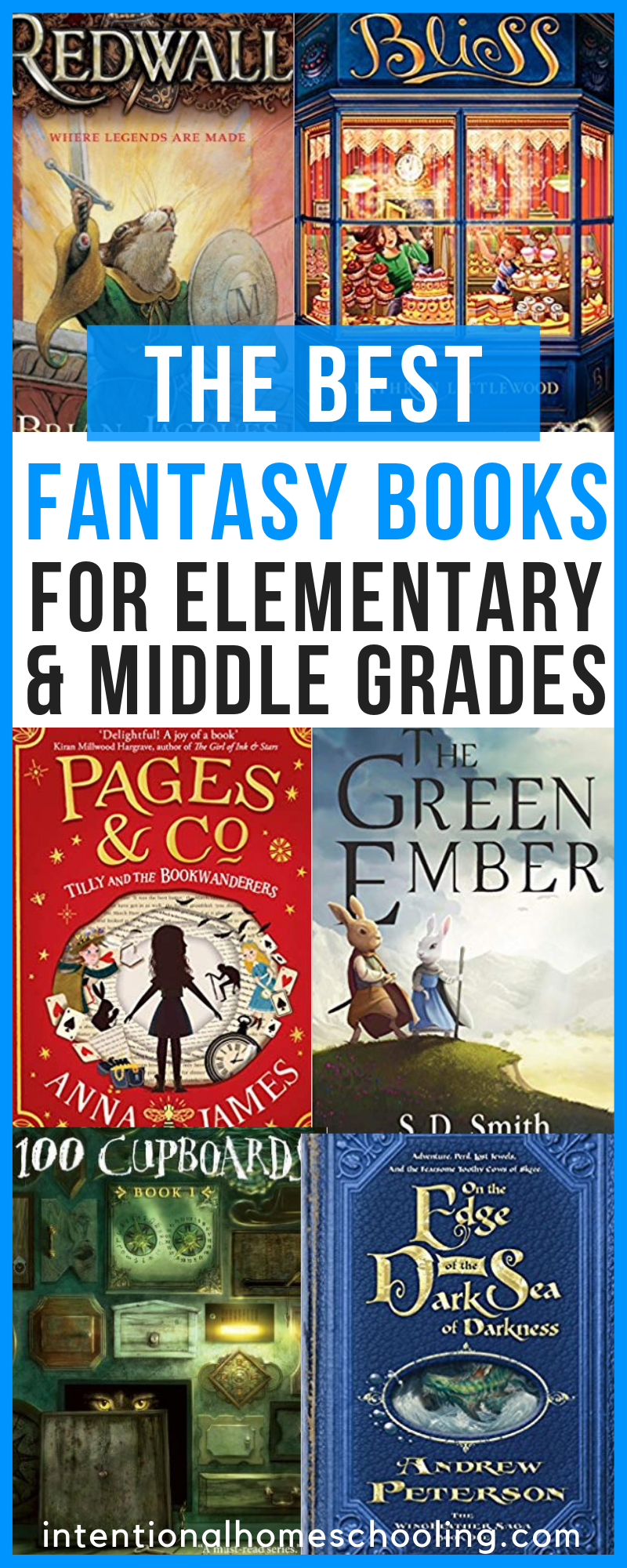 The Best Fantasy Book Recommendations for Elementary and Middle Grade - great examples of light vs dark