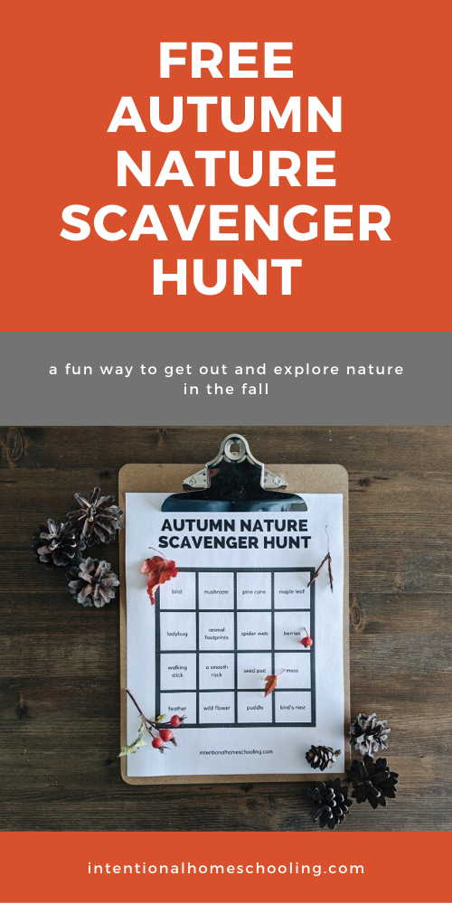 Fall Nature Study Ideas and a Free Printable Autumn Nature Scavenger Hunt