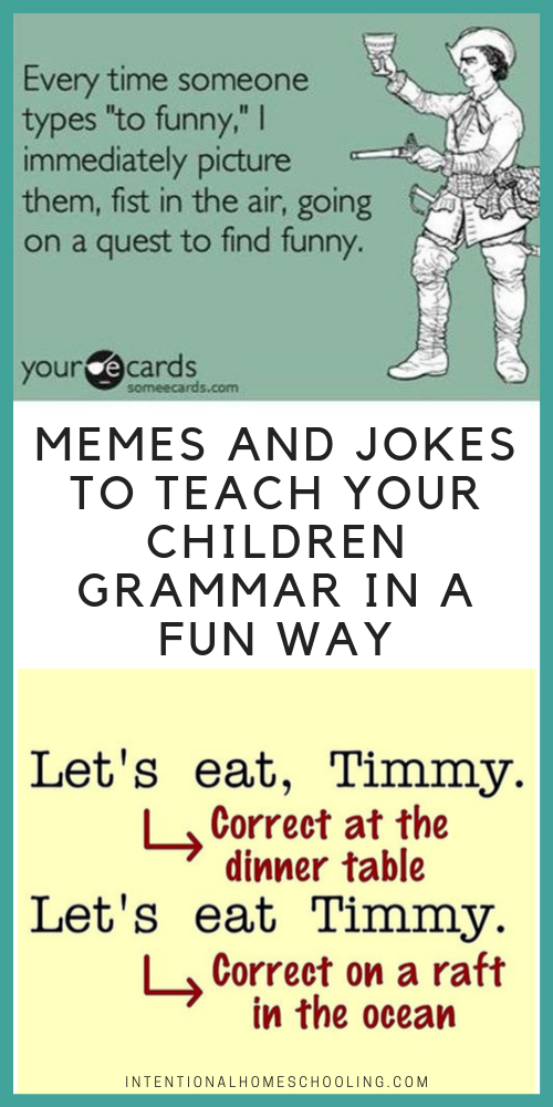 Memes and Jokes to Teach Your Children Grammar in a Fun Way