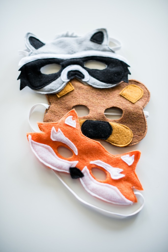 Free Pattern for Kids Animal Masks - perfect for Hallowwen