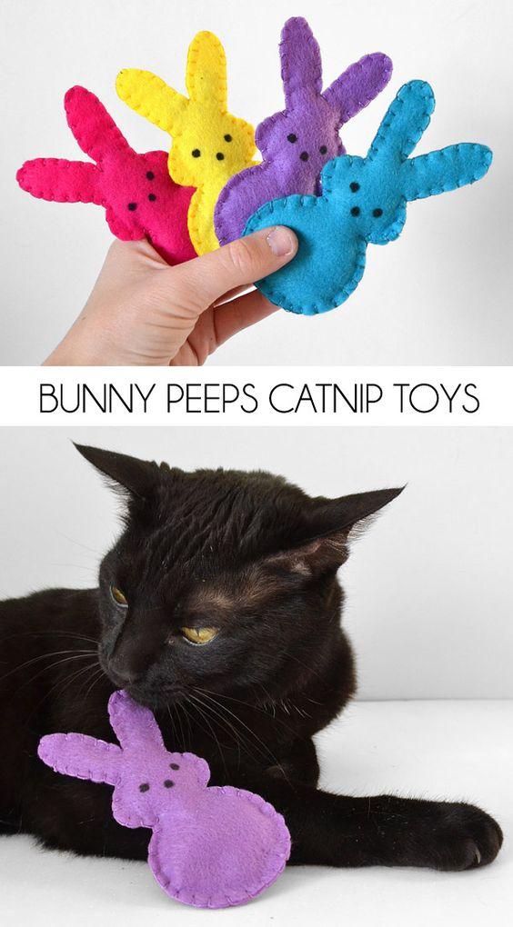 Easy Bunny Softie Catnip Toy