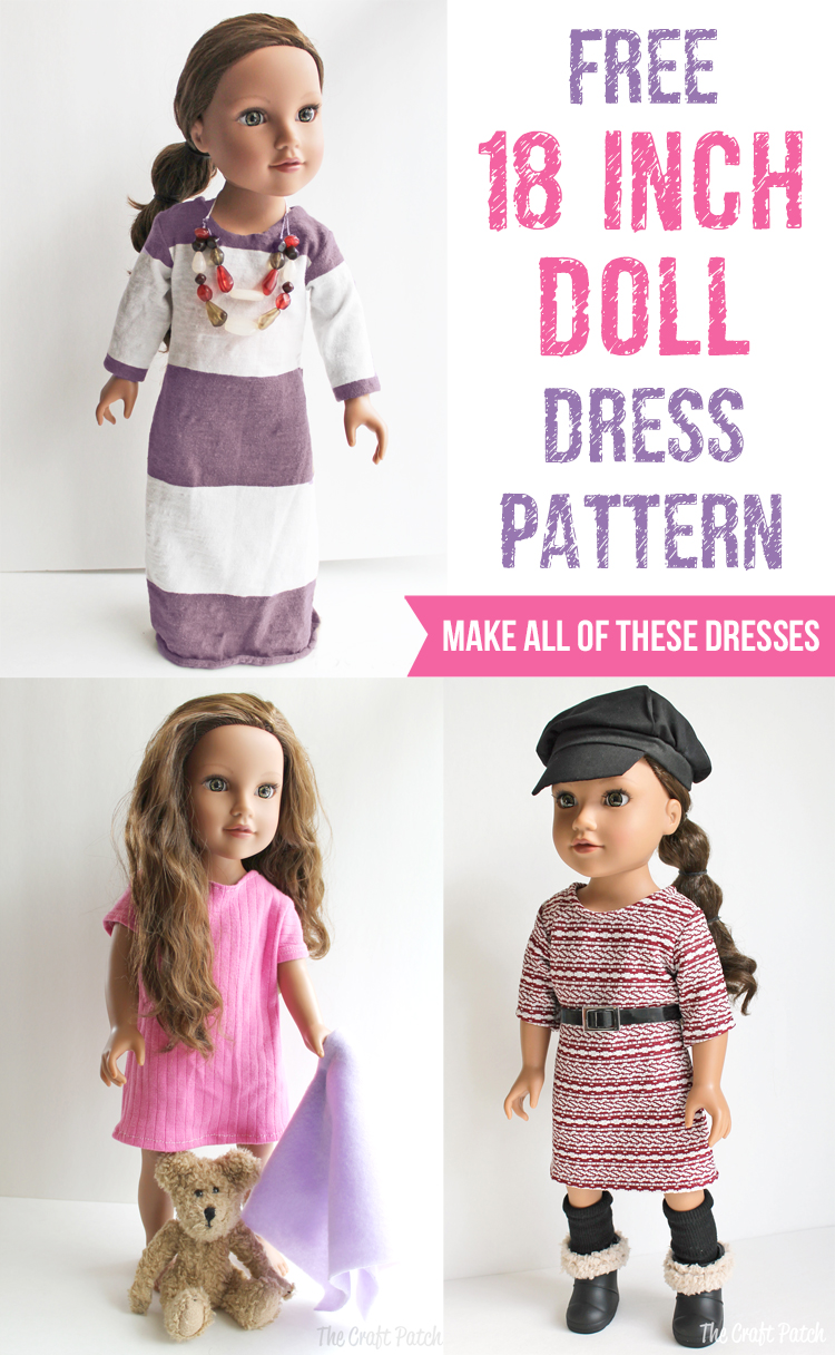 "Free 18"" American Girl Doll Dress Pattern"