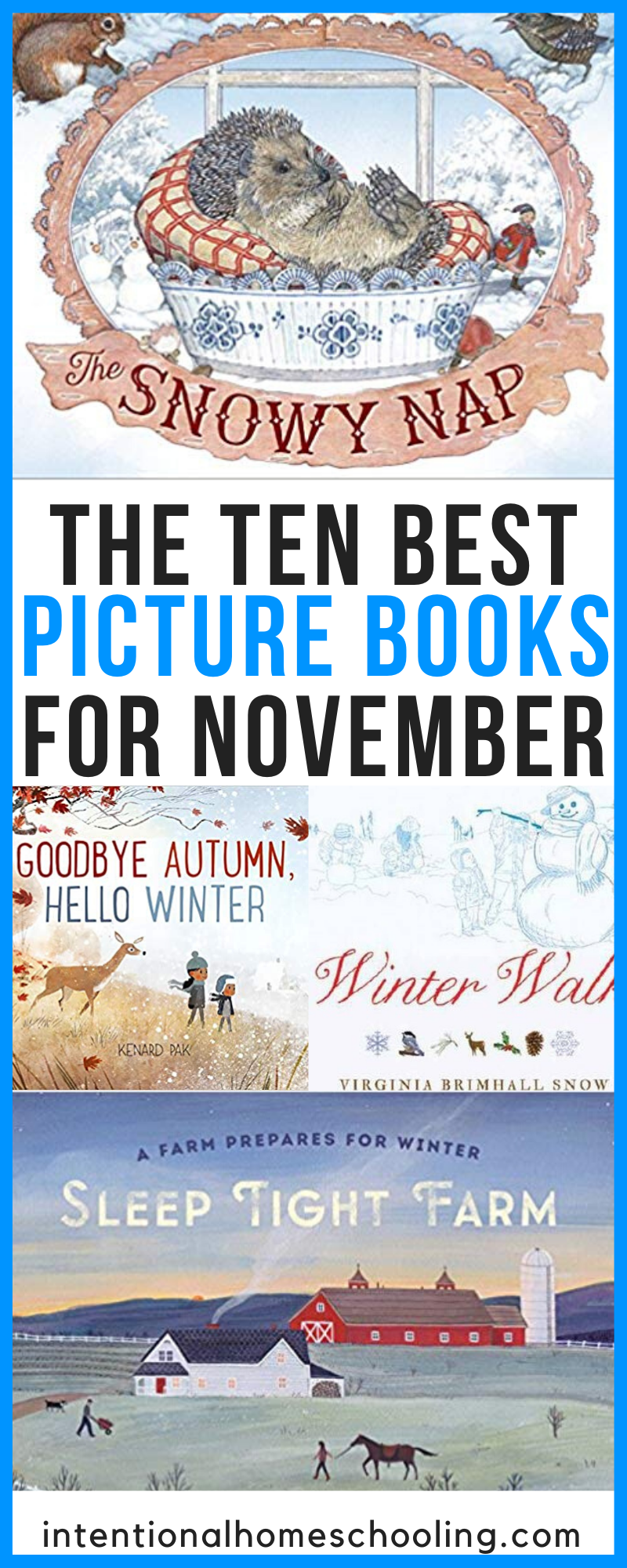 The Best Picture Books to Read in November - picture books about snow, hibernation and the arctic