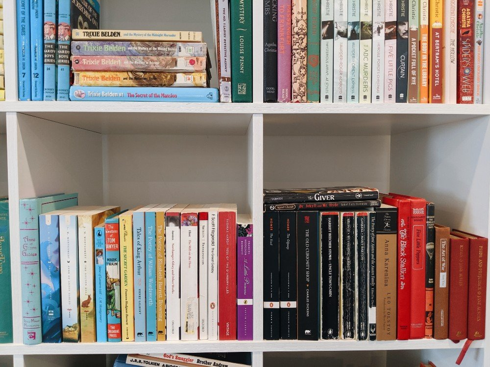 A Look At Our Bookshelves and Favorite Books