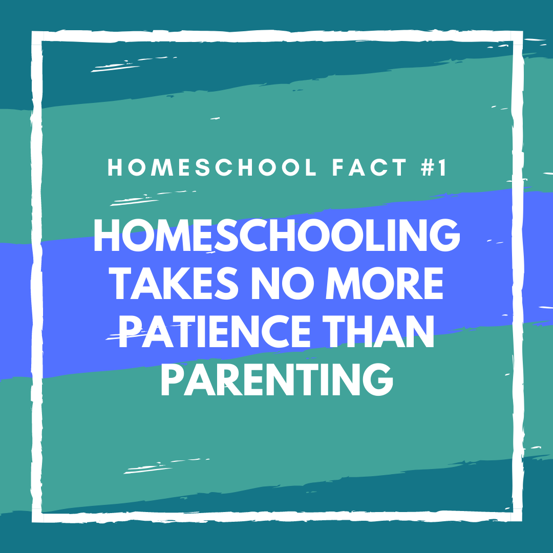 Homeschool Fact: Homeschooling takes no more patience than parenting