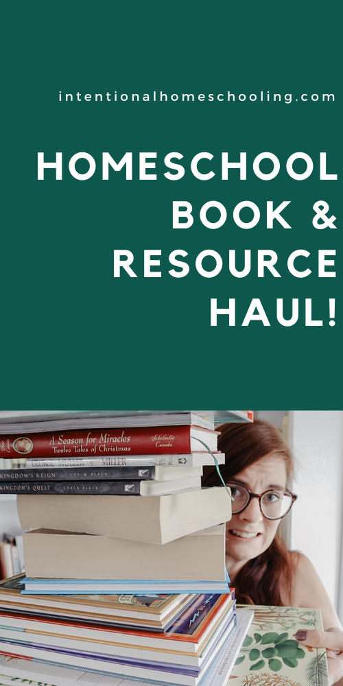Homeschool Book & Resource Haul - lots of fiction and non-fiction books for our homeschool
