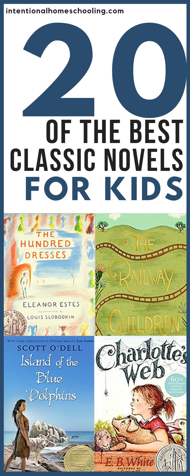 Classic Novels for Elementary Kids - great classics for kindergarten, grade 1, grade 2, grade 3, grade 4 and pre-kindergarten!