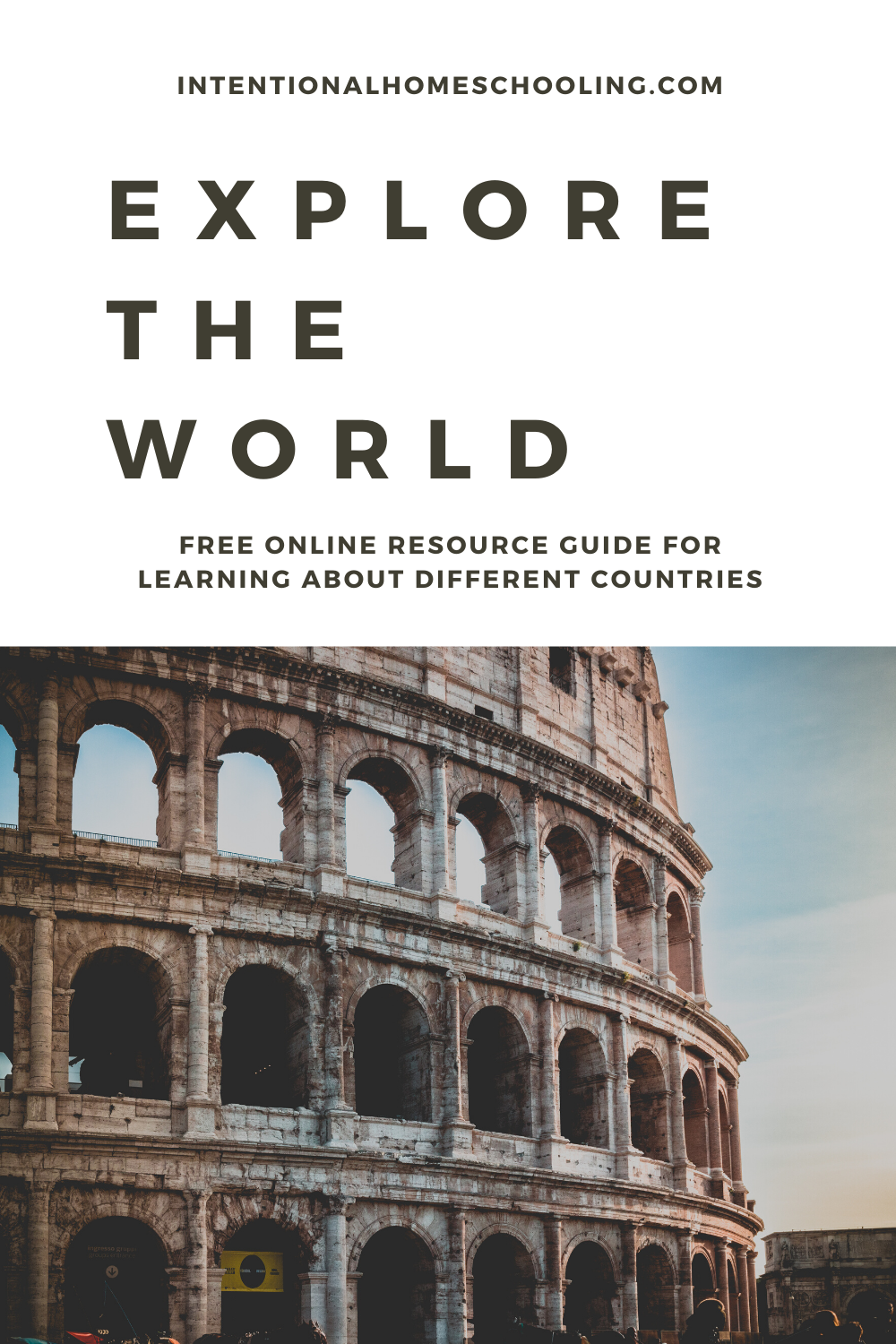 Explore the World - a free online geography resource for homeschoolers
