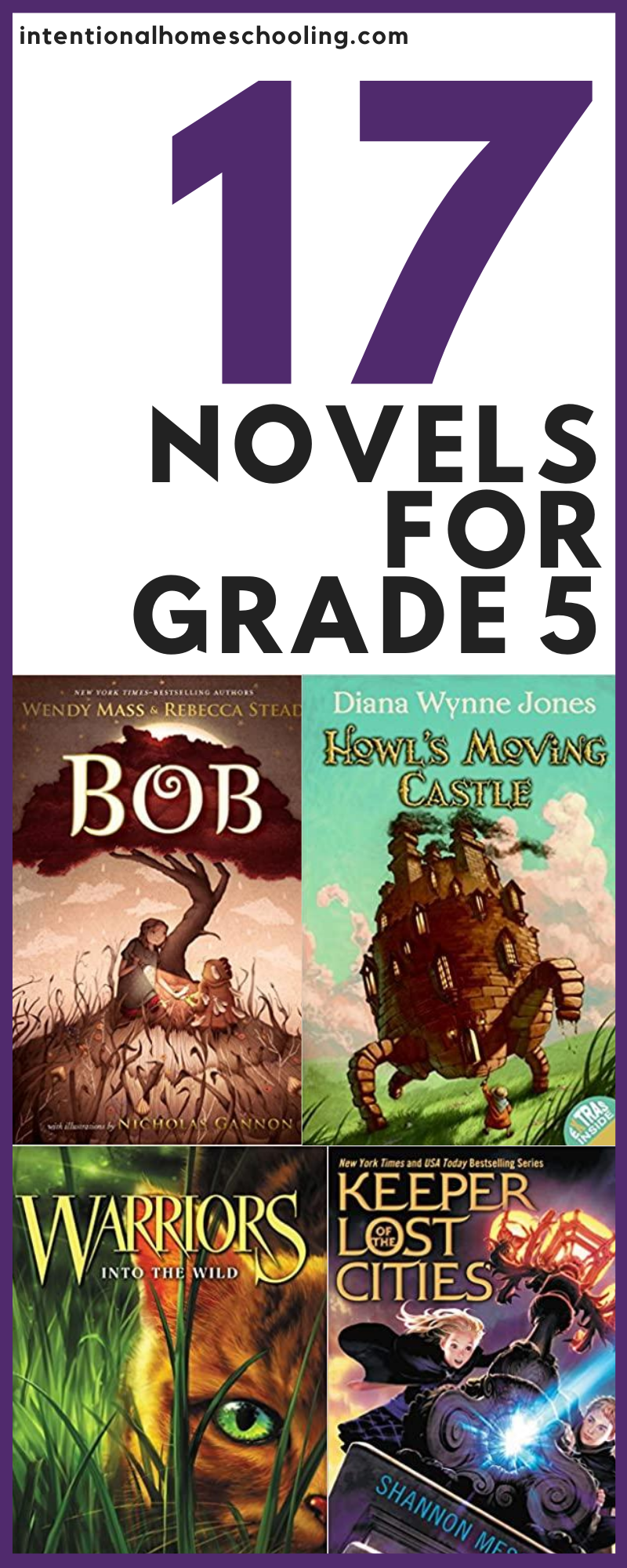 Great Chapter Books for Grade Five - novels for independent reads and read alouds for grade 5
