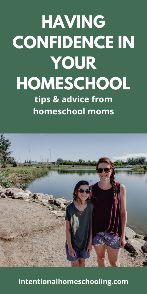 """Having Confidence in Your Homeschool: busting the """"do it all"""" myth and advice from homeschool moms"""