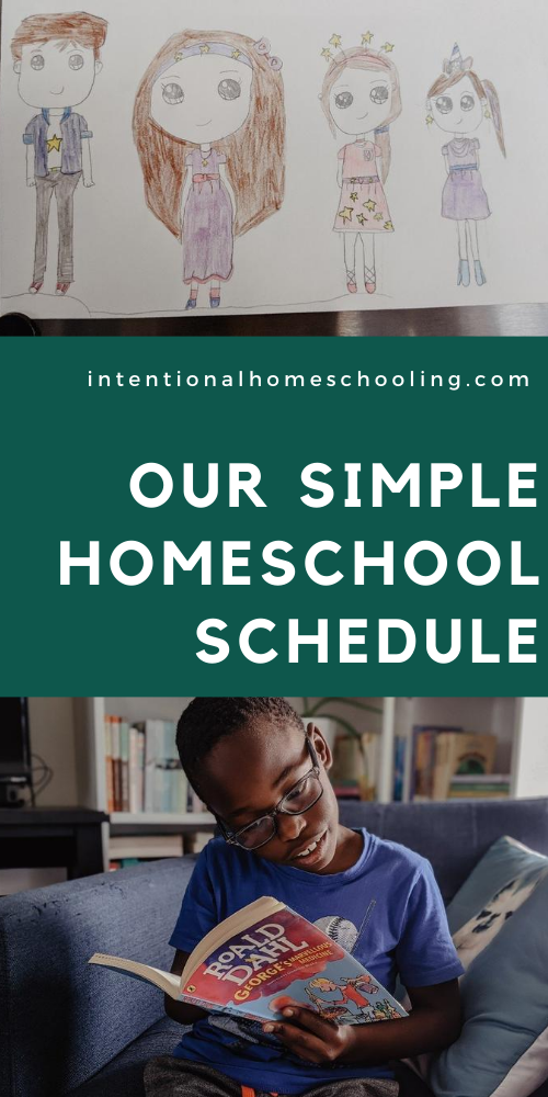 Simple Homeschool Schedule - our simple three part homeschool schedule and routine for the summer