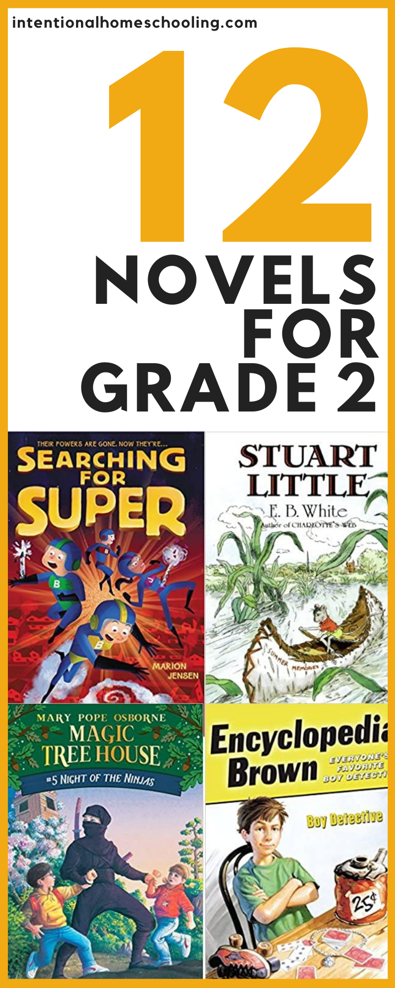 12 Great Chapter Books for Grade Two - novels that can be read independently or as read alouds