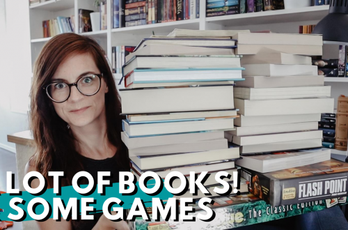 Homeschool Resource Haul - lots of middle grade books and some games too!