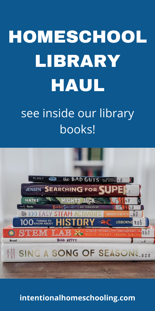 Homeschool Library Haul - see inside our library books!