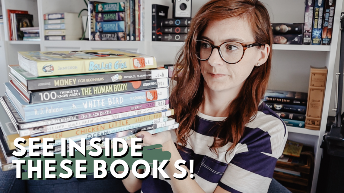 Homeschool Library Haul - see inside some great library books