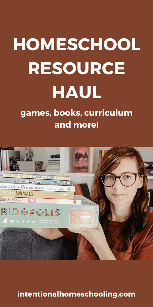 Homeschool Resource Haul - books, games, workbooks, curriculum and more!