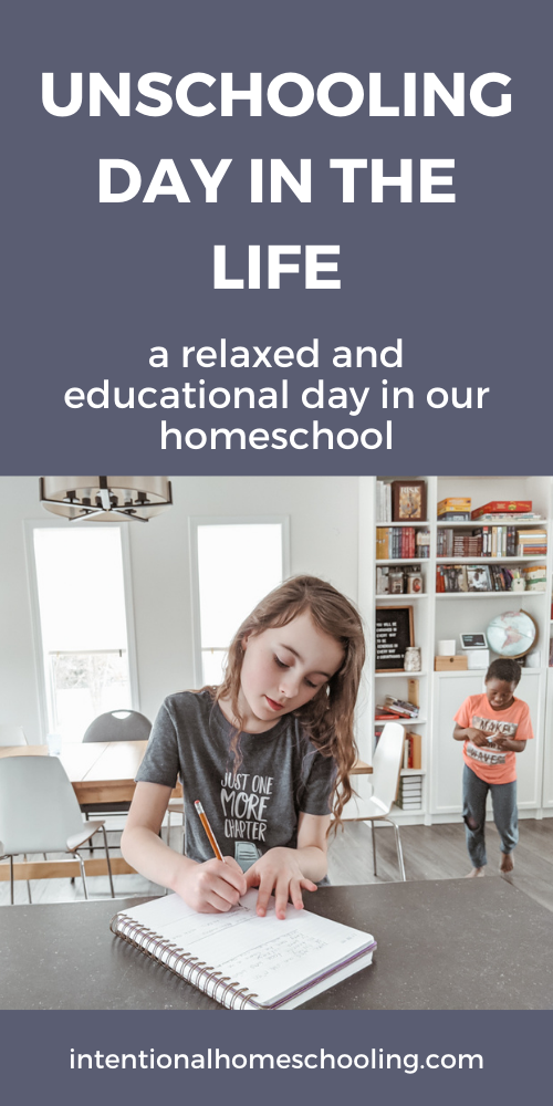 Homeschool Day in the Life - A Peek into Our Unschooling Homeschool - An unschooling day in the life, a relaxed and educational homeschool day