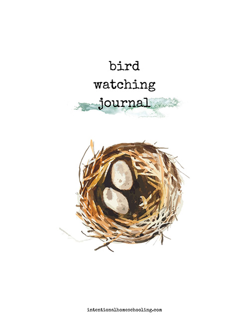 Bird Watching Journal - nature study printable journal